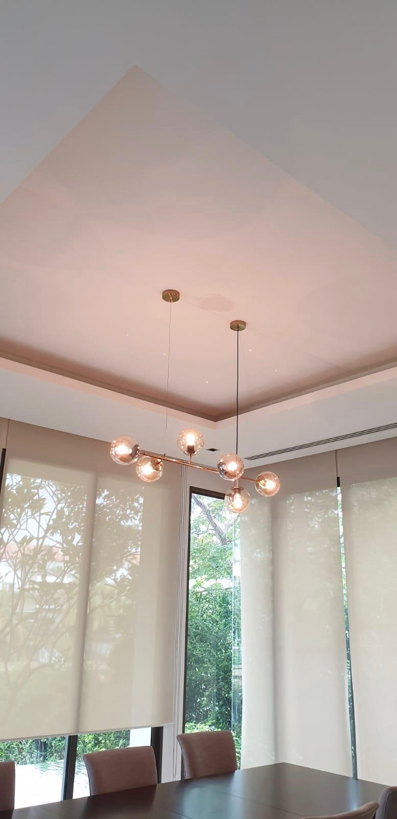 Install hanging light